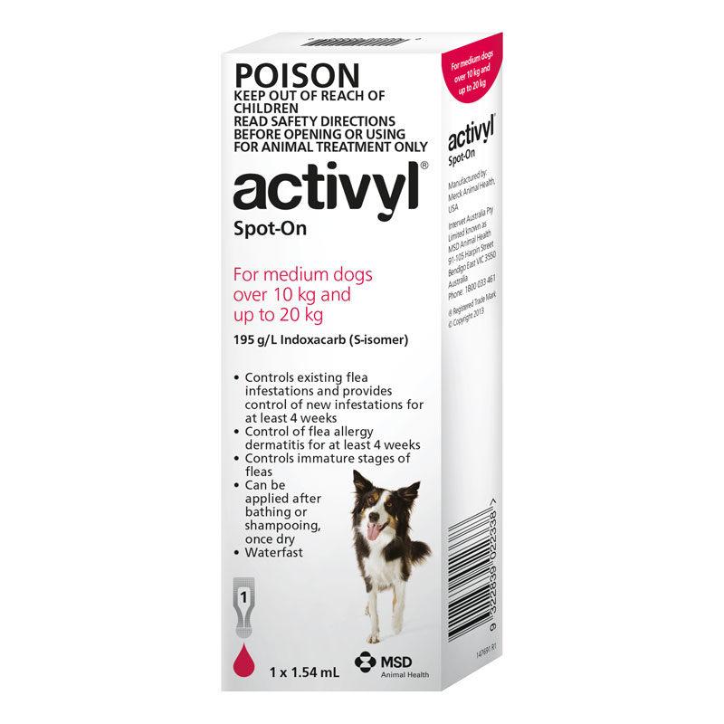 Activyl Red Spot-On for Medium Dogs - Single 1