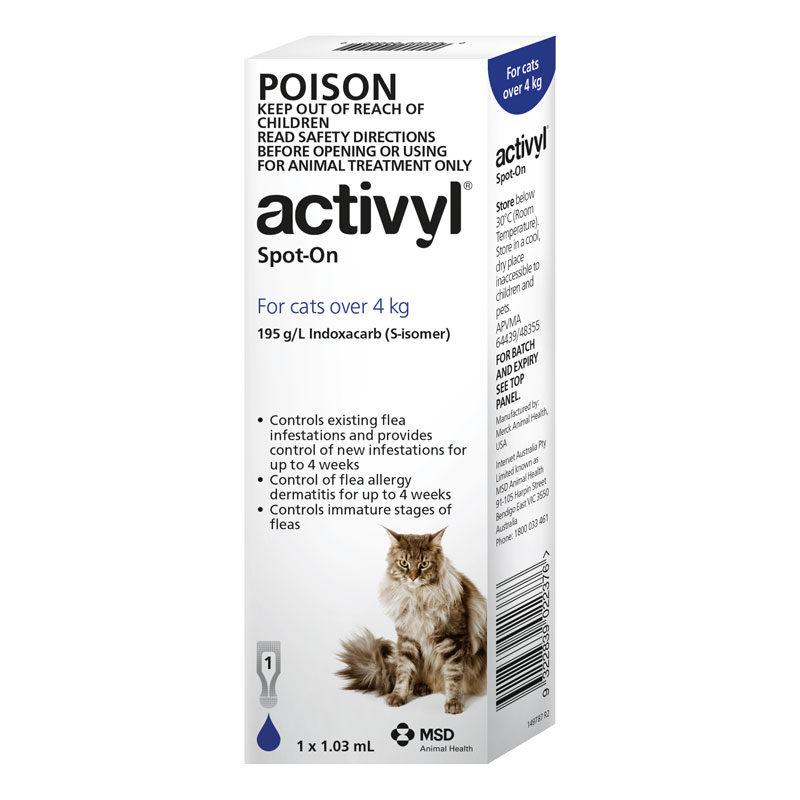 Activyl Dark Blue Spot-On for Medium & Large Cats - Single 1
