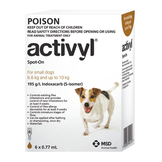 Activyl Brown Spot-On for Small Dogs - 6 Pack 1