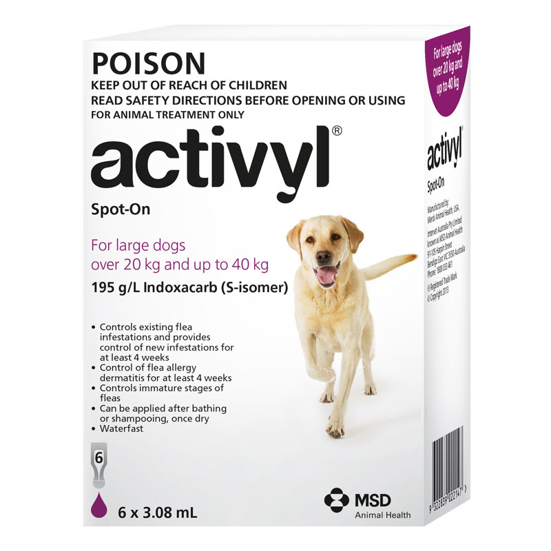 Activyl Purple Spot-On for Large Dogs - 6 Pack 1