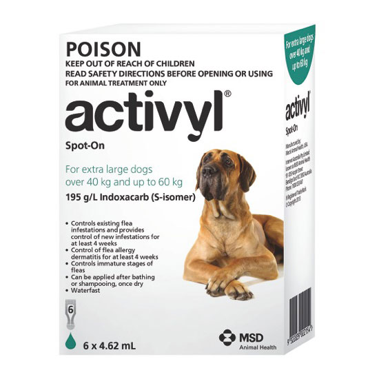 Activyl Green Spot-On for Very Large Dogs - 6 Pack 1
