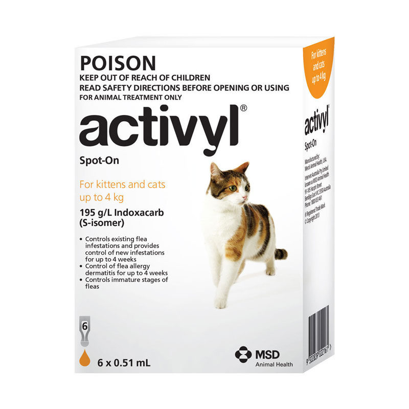Activyl Orange Spot-On for Kittens & Small Cats - 6 Pack 1