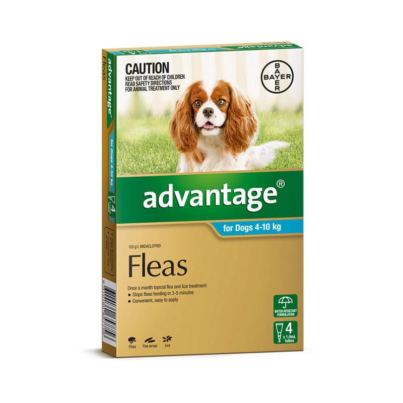 Advantage Aqua Spot-On for Medium Dogs - 4 Pack 1