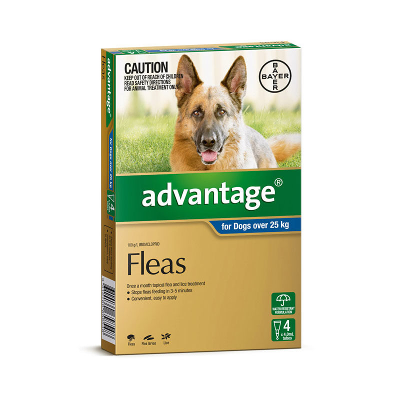 Advantage Blue Spot-On for Very Large Dogs - 4 Pack 1