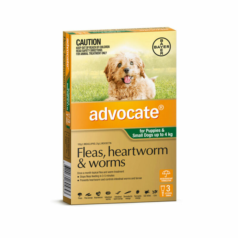 Advocate Green Spot-On for Puppies & Small Dogs - 3 Pack 1