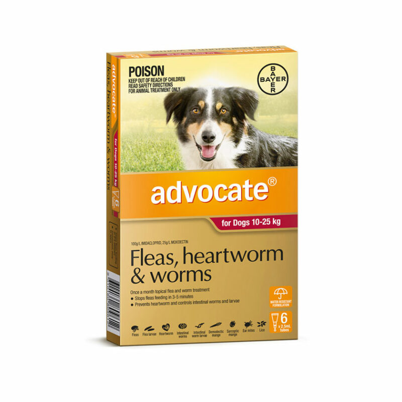 Advocate Red Spot-On for Large Dogs - 6 Pack 1