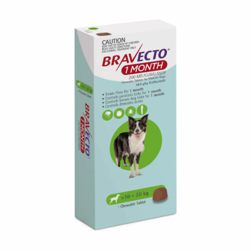 Bravecto 1 Month Green Chew for Medium Dogs - Single 1