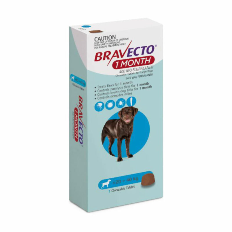 Bravecto 1 Month Blue Chew for Large Dogs - Single 1