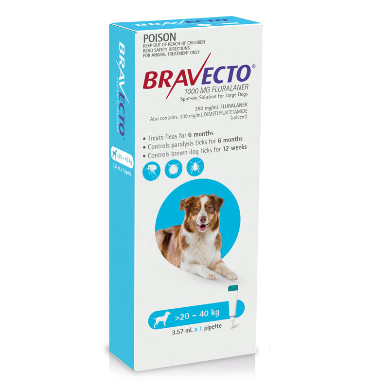 Bravecto Blue Spot-On for Large Dogs - Single 1