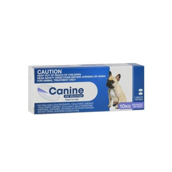 Canine All Wormer 10kg - 2 Tablets 1