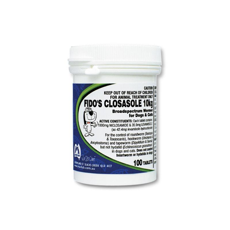 Fido's Closasole 10kg Tablets - 100 Pack 1