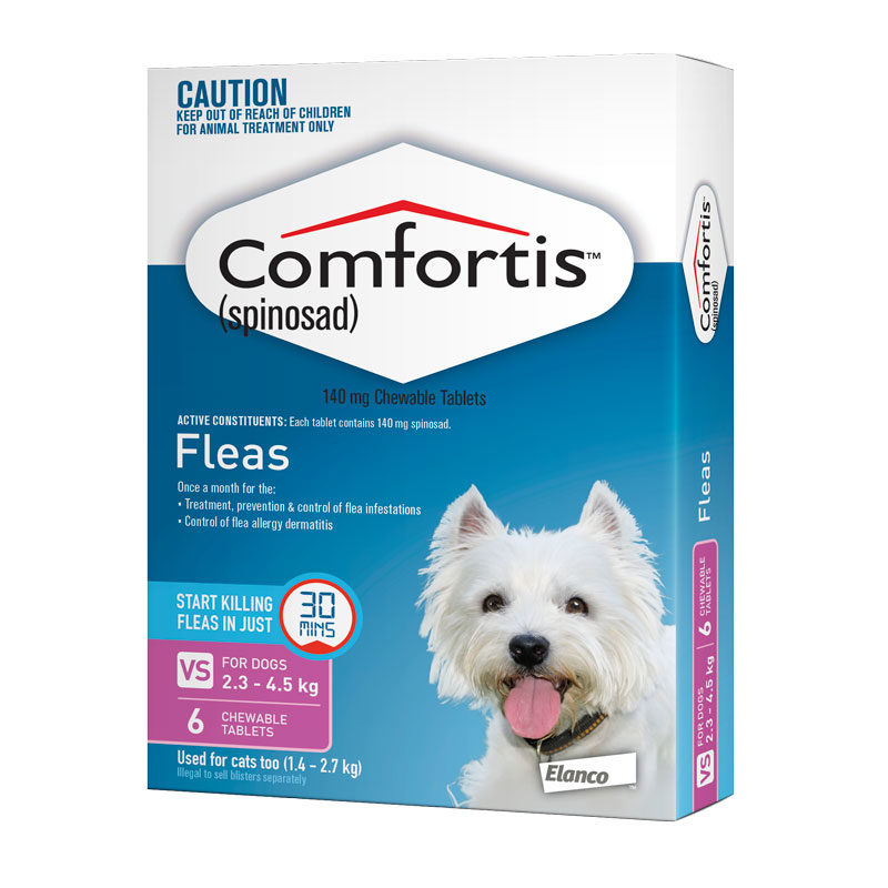 Comfortis Pink Chews for Very Small Dogs - 6 Pack 1