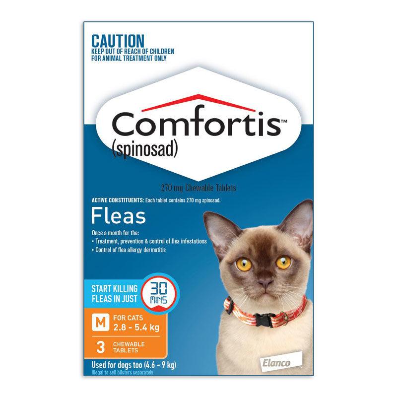 Comfortis Orange Chews for Medium Cats - 3 Pack 1