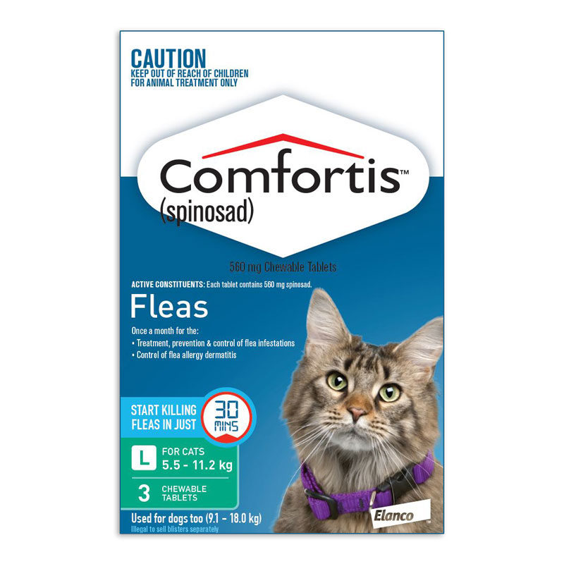 Comfortis Green Chews for Large Cats - 3 Pack 1