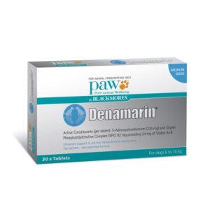 PAW Denamarin 225mg for Medium Dogs - 30 Pack