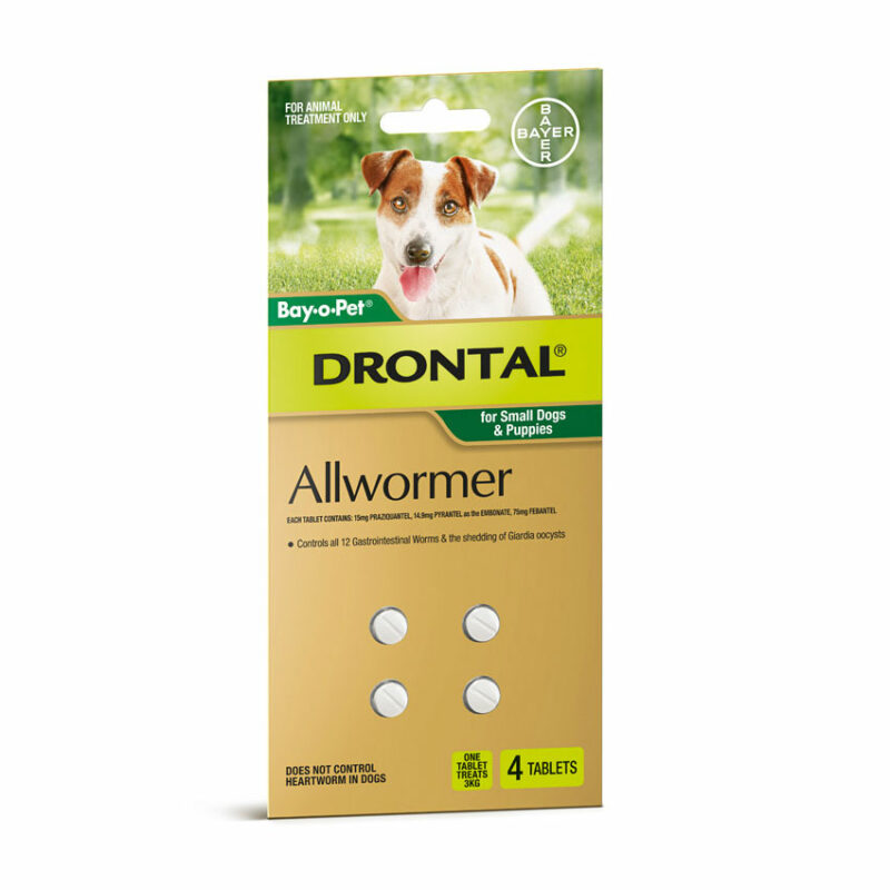 Drontal Allwormer Tablets for Puppies & Small Dogs - 4 Pack 1