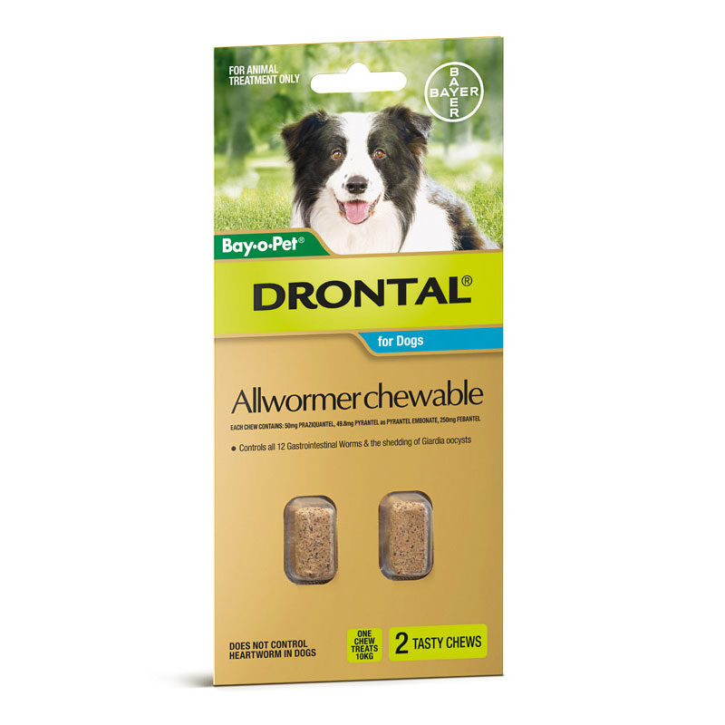 Drontal Allwormer Tablets for Dogs (up to 10kg) - 5 Pack 3