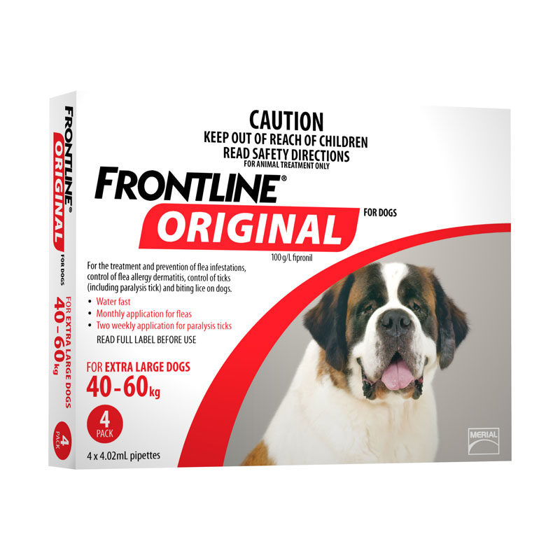 Frontline Original Red Spot-On for Extra Large Dogs - 4 Pack 1