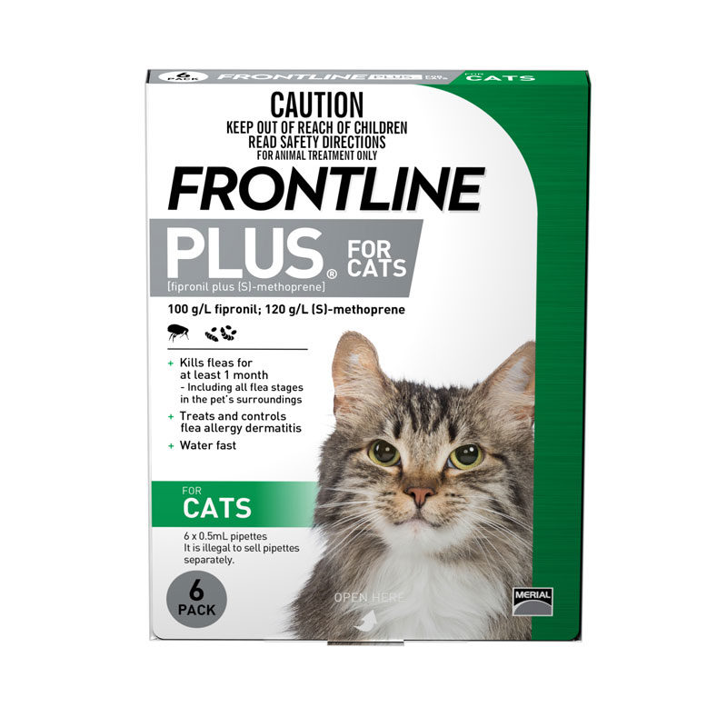 Frontline Plus Green Spot-On for Cats - 6 Pack 1