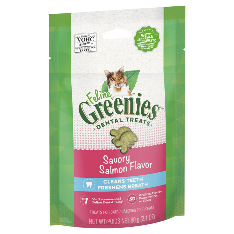 Feline Greenies Dental Treats Savoury Salmon Flavour 60g 1