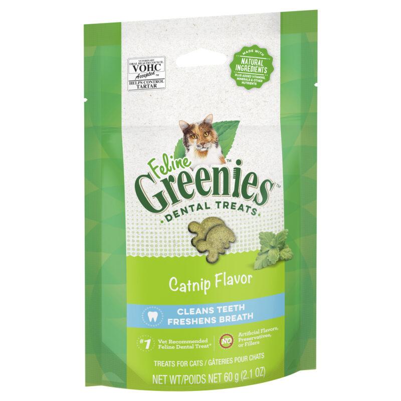 Feline Greenies Dental Treats Catnip Flavour 60g 1