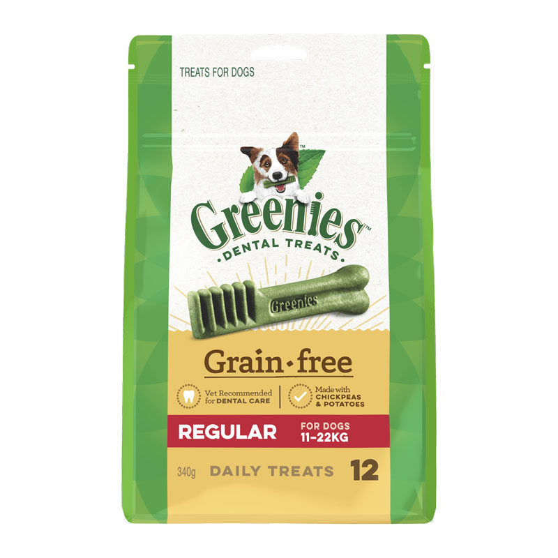 Greenies Grain Free Regular Dental Treats for Dogs - 12 Pack 1