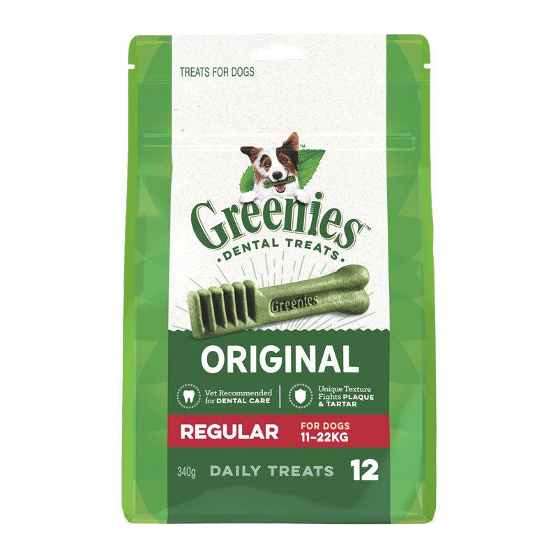 Greenies Original Regular Dental Treats for Dogs - 12 Pack 1