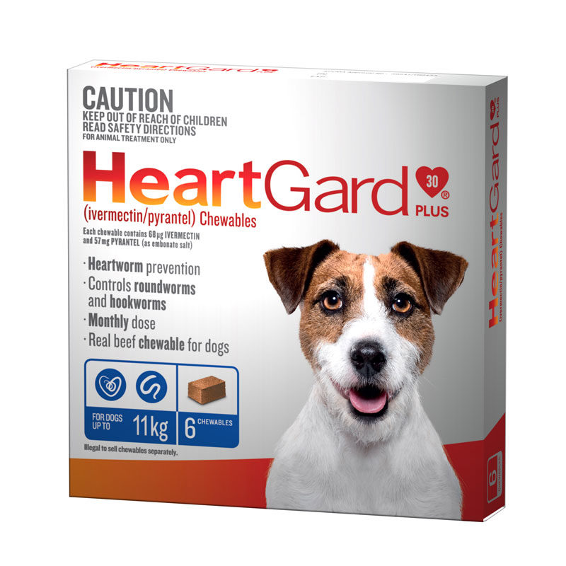 HeartGard Plus Blue Chews for Small Dogs - 6 Pack 1