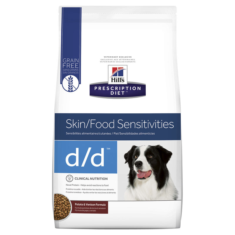 Hills Prescription Diet Canine d/d Skin/Food Sensitivities Potato & Venison Formula 7.98kg 1