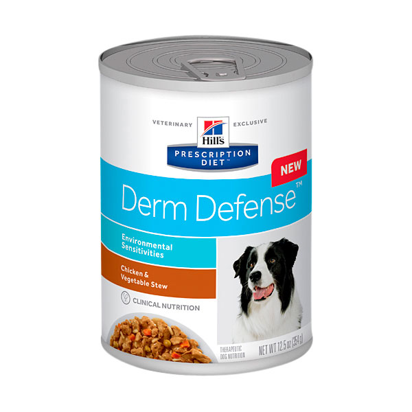 Hills Prescription Diet Canine Derm Defense Environmental Sensitivities Chicken & Vegetable Stew 354g x 12 Cans 1
