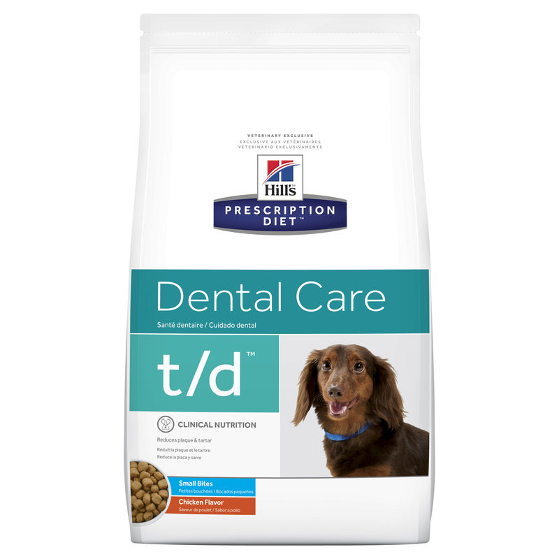 Hills Prescription Diet Canine t/d Dental Care Small Bites 2.25kg 1