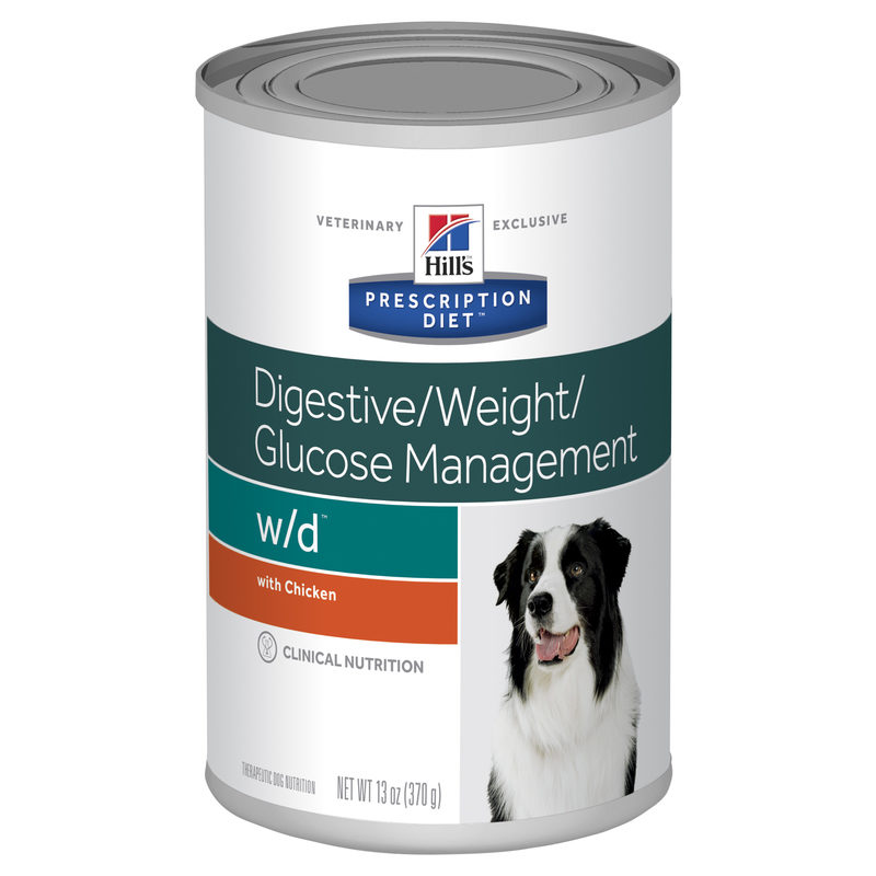 Hills Prescription Diet Canine w/d Digestive/Weight/Glucose Management Chicken Flavour 370g x 12 Cans 1
