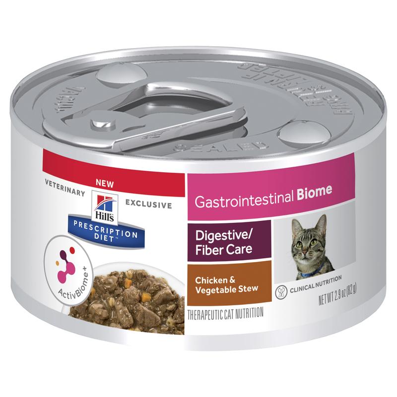 Hills Prescription Diet Feline Gastrointestinal Biome Digestive/Fibre Care Chicken & Vegetable Stew 82g x 24 Cans