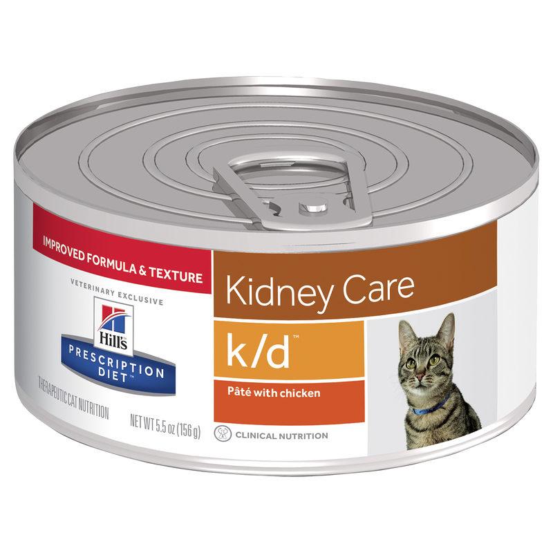 Hills Prescription Diet Feline k/d Kidney Care with Chicken 156g x 24 Cans 1