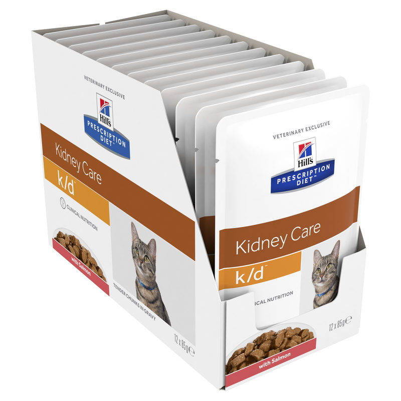Hills Prescription Diet Feline k/d Kidney Care Salmon 85g x 12 Pouches 1