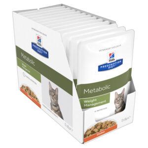 Hills Prescription Diet Feline Metabolic 85g x 12 Pouches