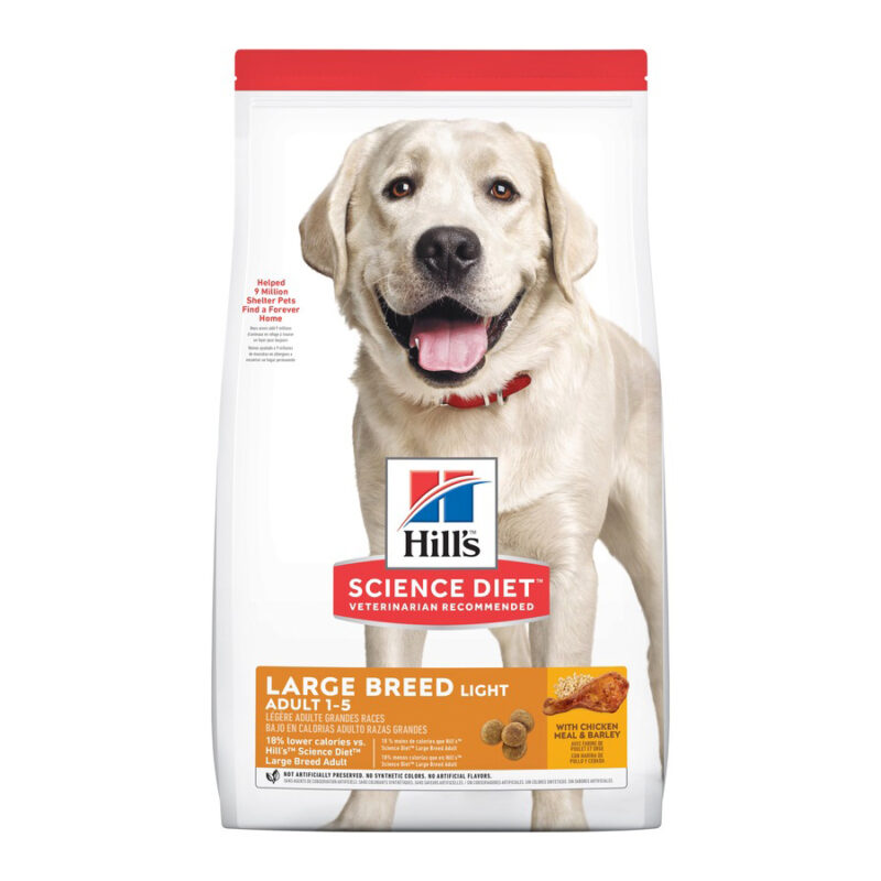 Hills Science Diet Adult Dog Light Large Breed 12kg 1