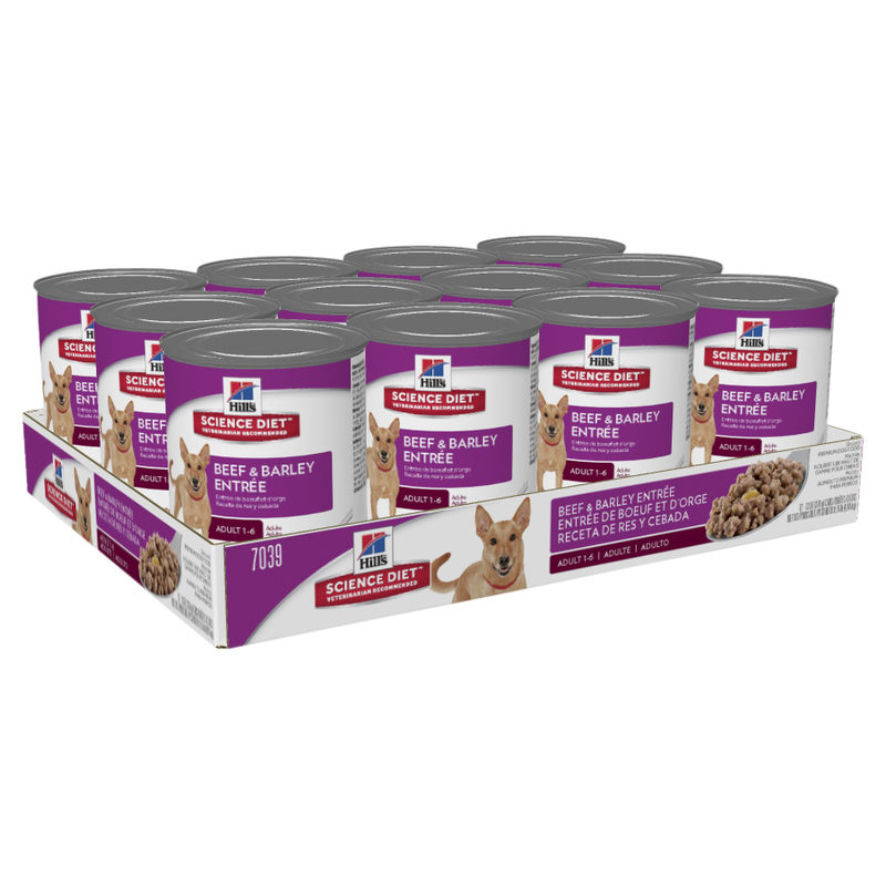 Hills Science Diet Adult Dog Beef & Barley Entree 370g x 12 Cans 2