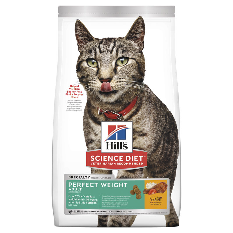 Hills Science Diet Adult Cat Perfect Weight 3.17kg 1