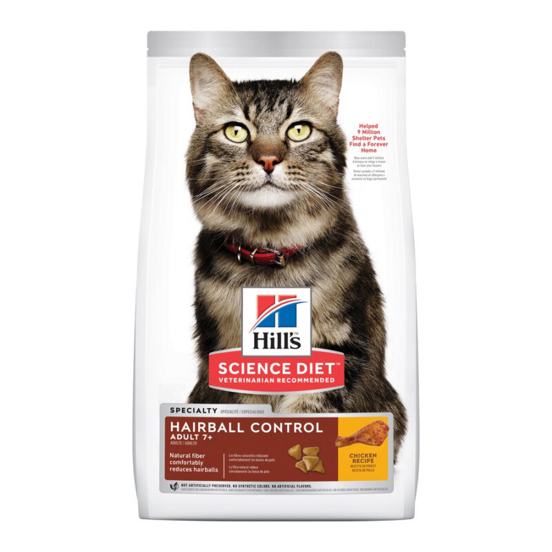 Hills Science Diet Adult Cat 7+ Hairball Control 2kg 1