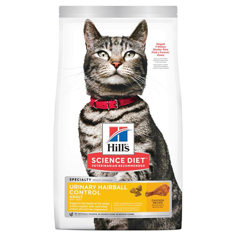 Hills Science Diet Adult Cat Urinary Hairball Control 3.17kg 1