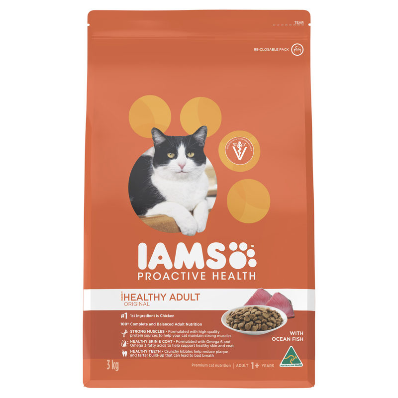 IAMS Healthy Adult Original with Ocean Fish 3kg 1
