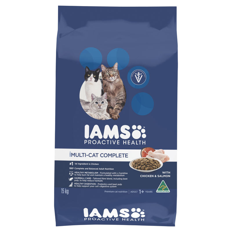 IAMS Adult Multi-cat Complete Chicken & Salmon 15kg 1