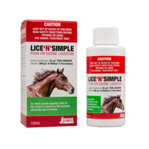 Lice N Simple Pour On Equine Lousicide 100ml