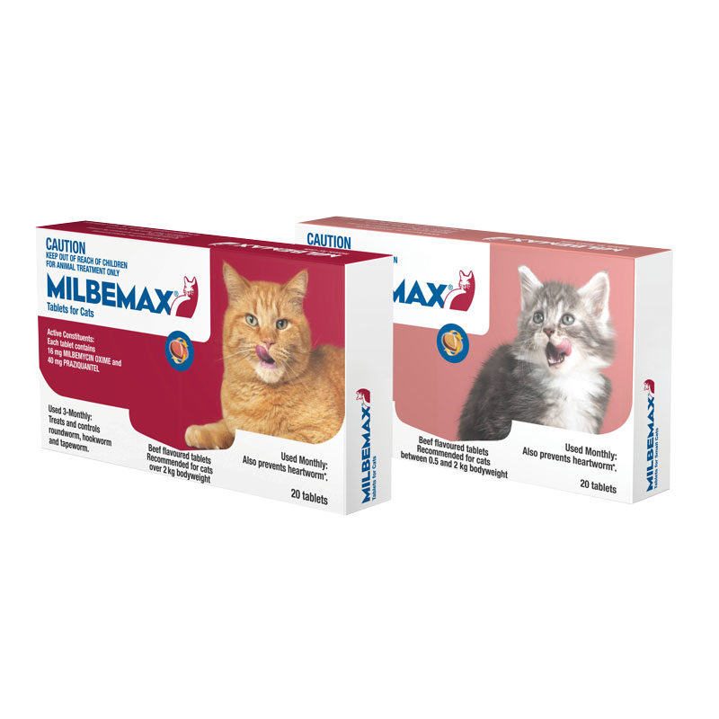 Milbemax Allwormer Tablets for Cats (0.5-2kg) - 20 Pack 1
