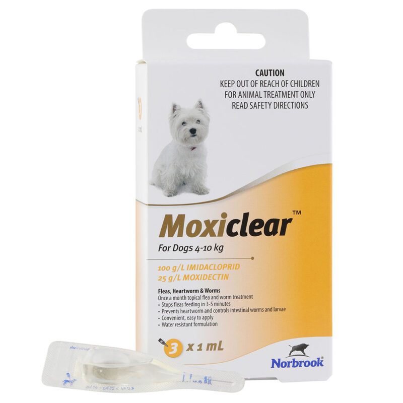 Moxiclear Yellow for Small Dogs - 3 Pack 1