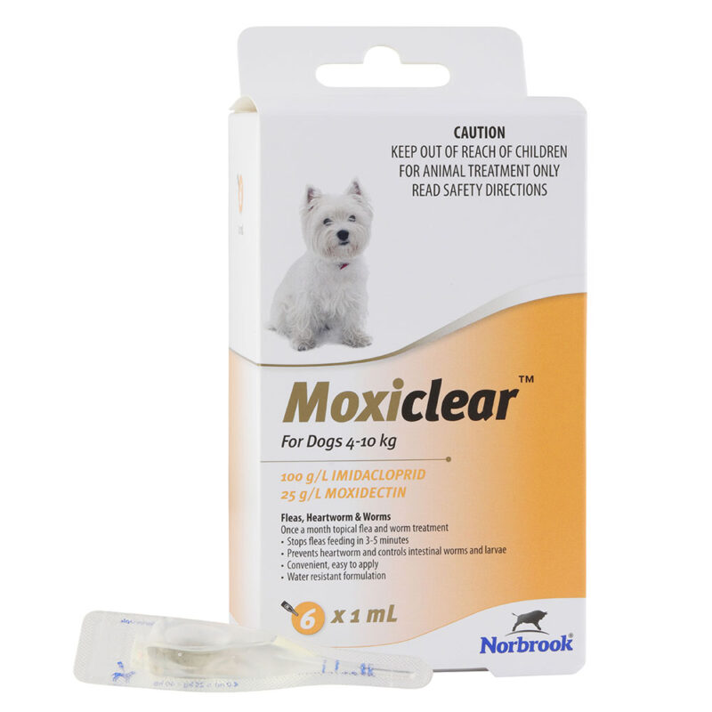 Moxiclear Yellow for Small Dogs - 6 Pack 1