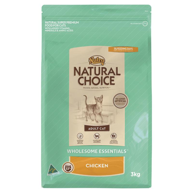 Nutro Wholesome Essentials Adult Cat Chicken 3kg 1