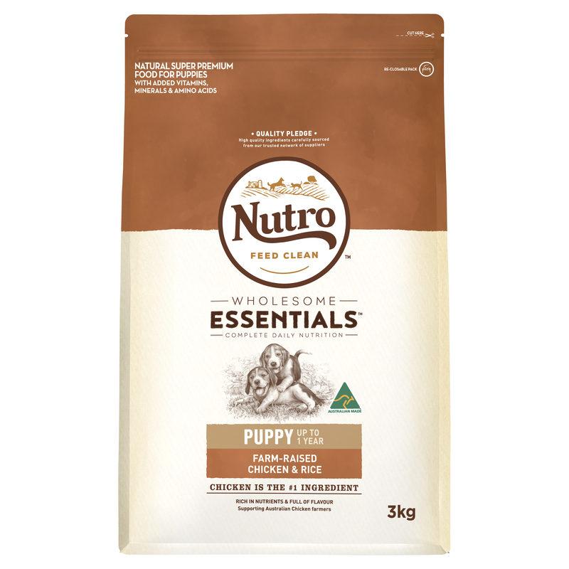 Nutro Wholesome Essentials Puppy Chicken & Rice 3kg 1