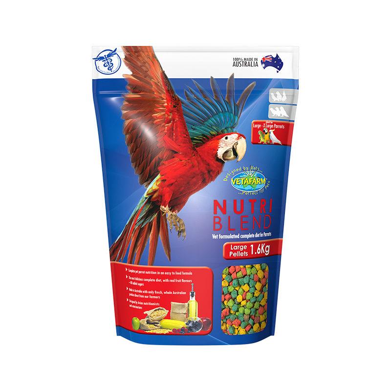 Vetafarm Nutriblend Large Parrot Pellets 1.5kg
